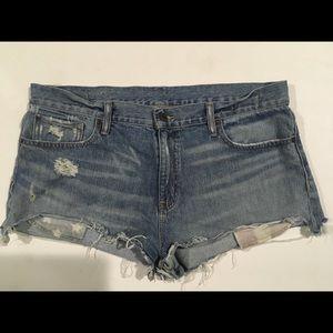 Ralph Lauren boyfriend shorts factory distressed